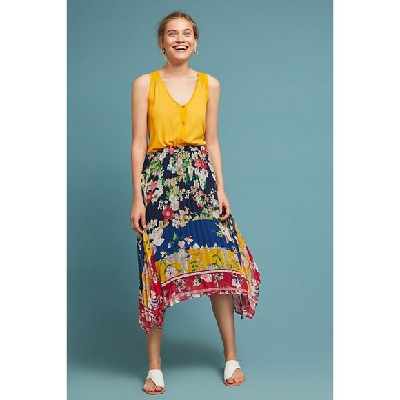 Anthropologie Dresses & Skirts - Anthropologie One September Skirt Leora Floral